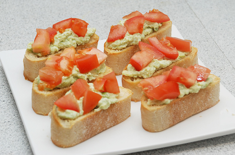 Guacamole Bruschetta Recipes — Dishmaps