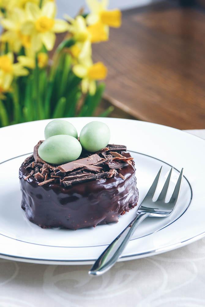 Fuglerede chokoladekager fra Bageglad.dk
