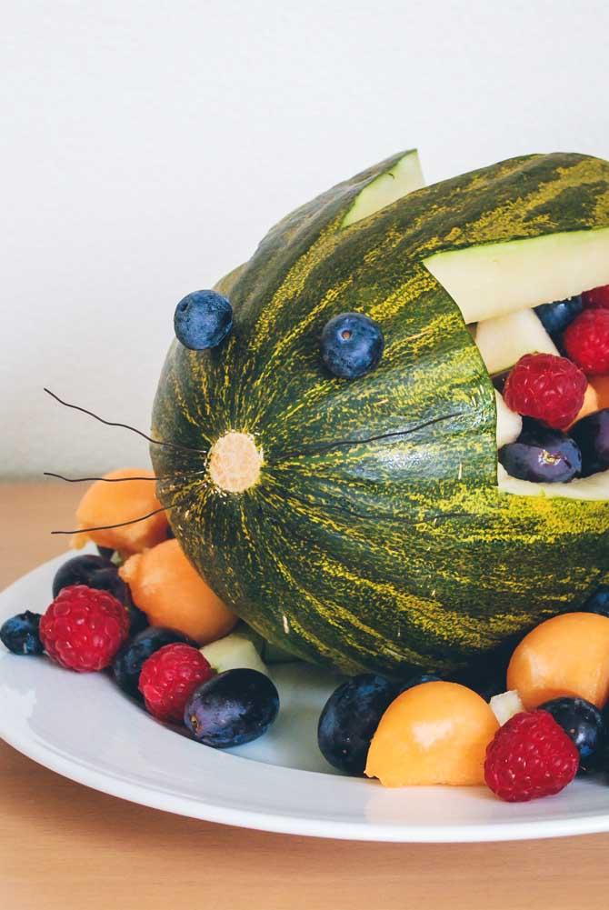 Vandmelon med frugt