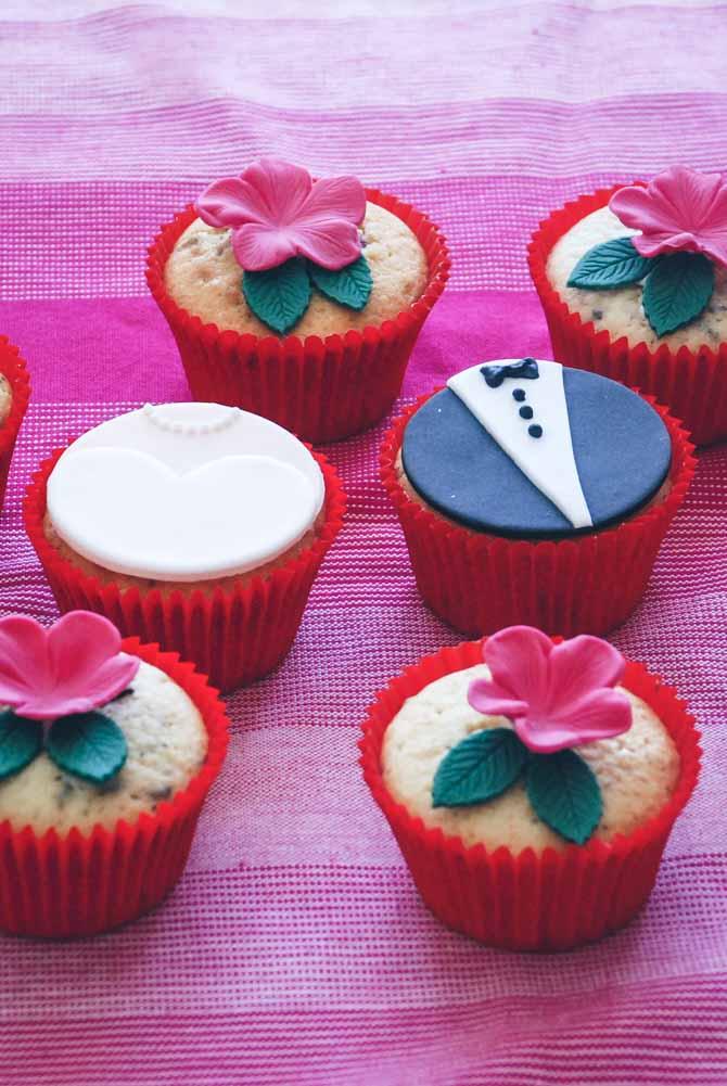 Bryllup cupcakes fra Bageglad