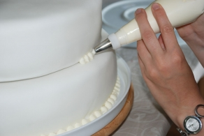 Glasur på bryllupskage