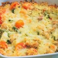 Quinoa, kylling og grøntsagsfad