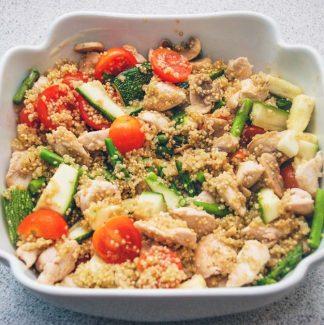 Quinoa og grøntsager