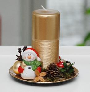 Juledekoration med snemand