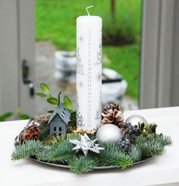 Juledekoration kalenderlys