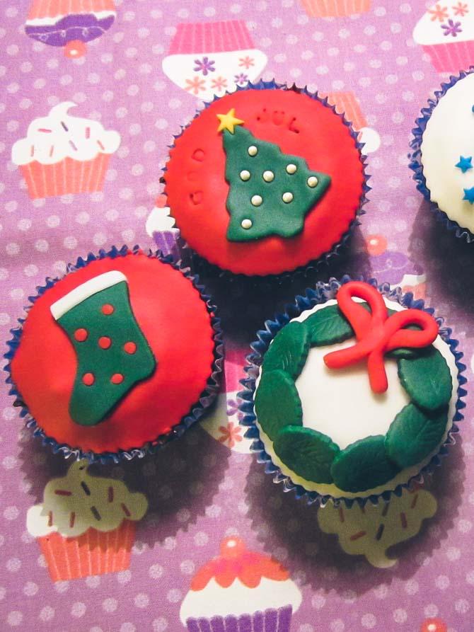 Julecupcakes fra Bageglad
