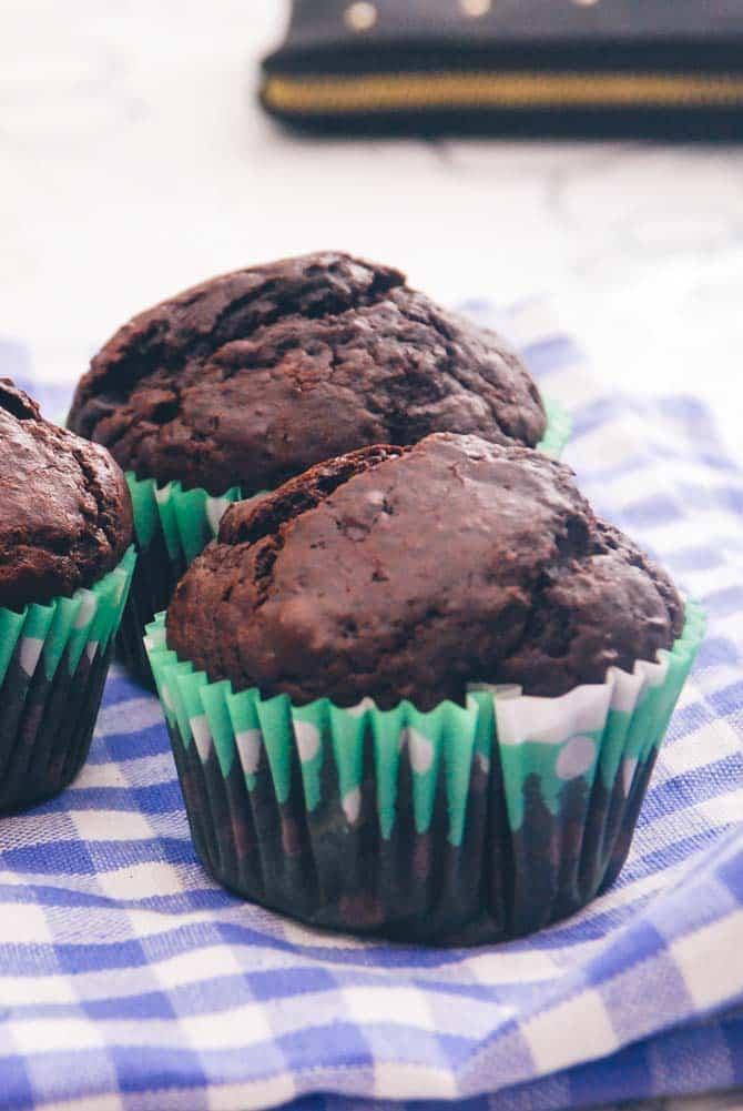 Mørk chokolade muffins fra Bageglad