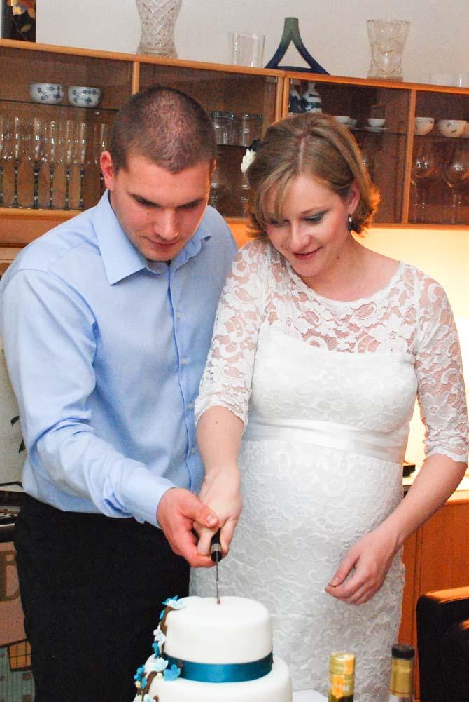 Gravid brud og brudgom