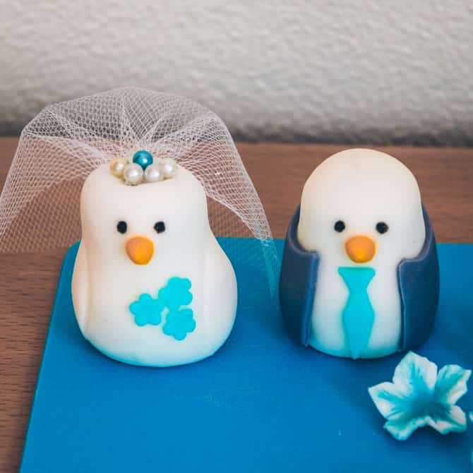 Topfigur fugle til bryllupskage