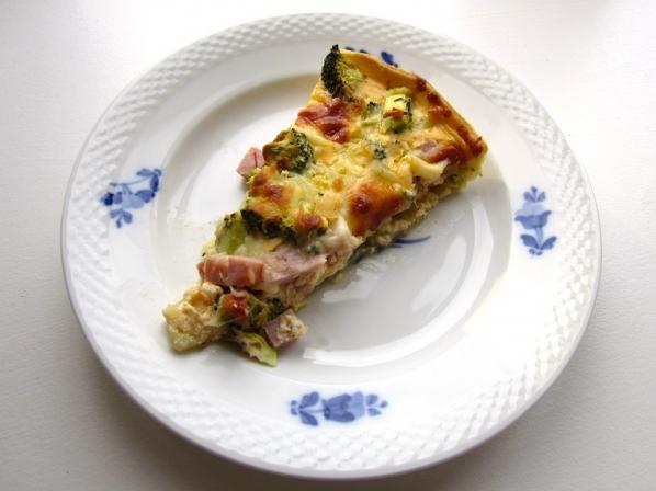 Broccolitærte med skinke fra Bageglad.dk