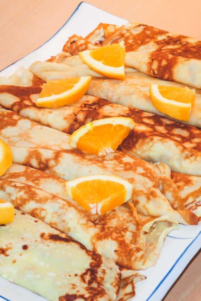 Pandekager med appelsincreme