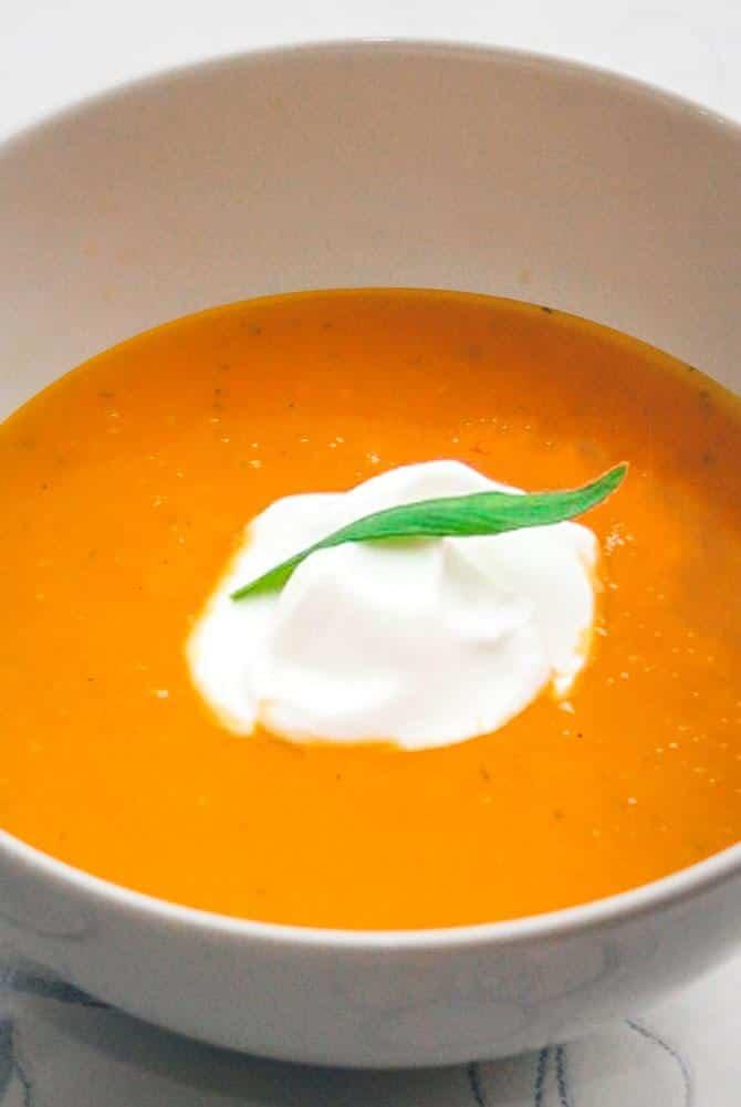 Græskarsuppe opskrift fra Bageglad