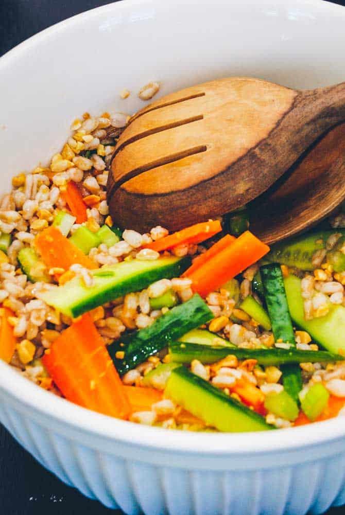 Japansk bulgur salat opskrift fra Bageglad