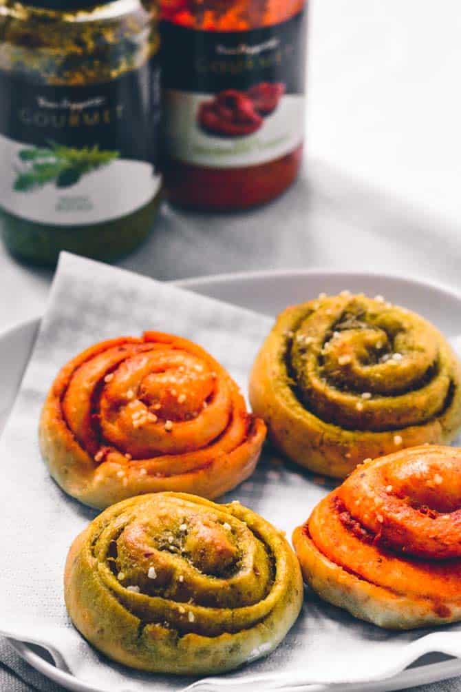 Pesto snegle opskrift fra Bageglad
