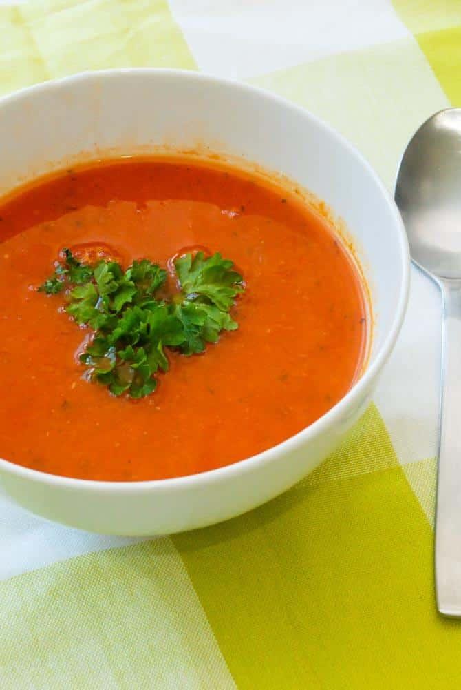 tomatsuppe fra bunden