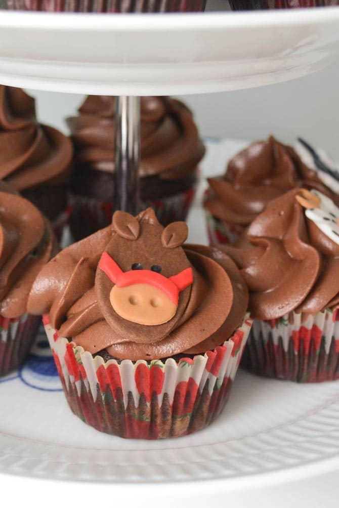 Heste cupcakes fra Bageglad