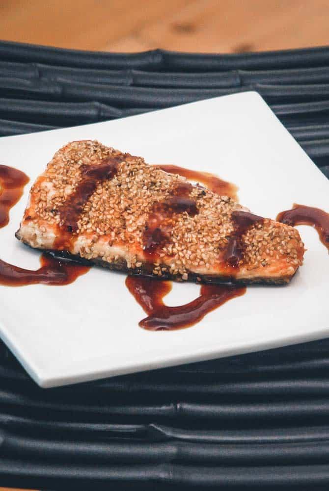 Sesam laks med japansk sauce