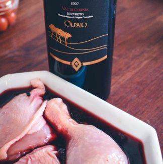 Kylling i rødvin