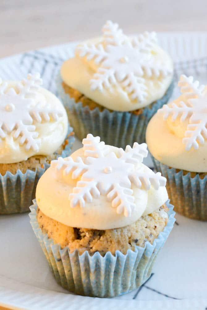 Snefnug cupcakes fra Bageglad