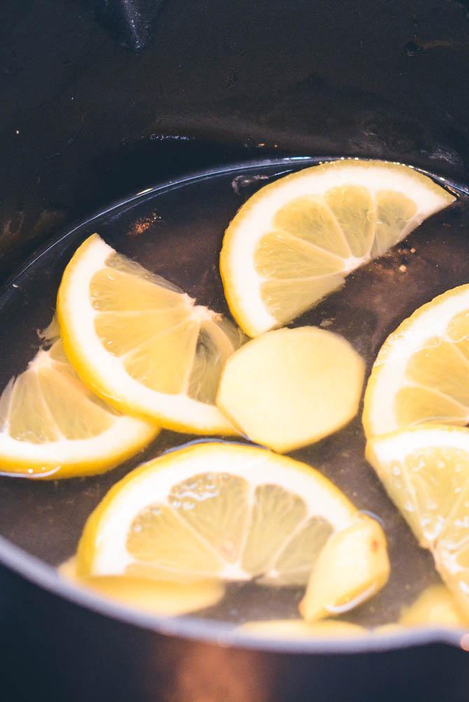 Koge citroner og ingefær