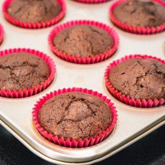Bagte cupcakes