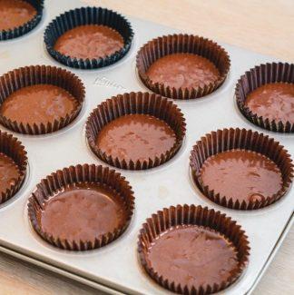 Chokolade cupcake dej