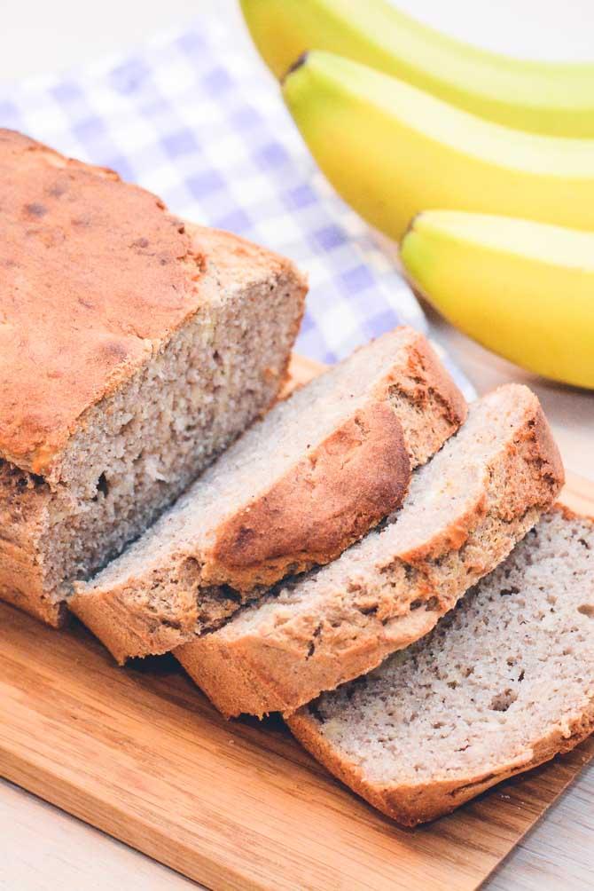Glutenfri og laktosefri bananbrød fra Bageglad