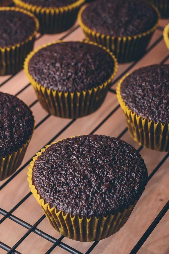 Chokolade cupcakes opskrift