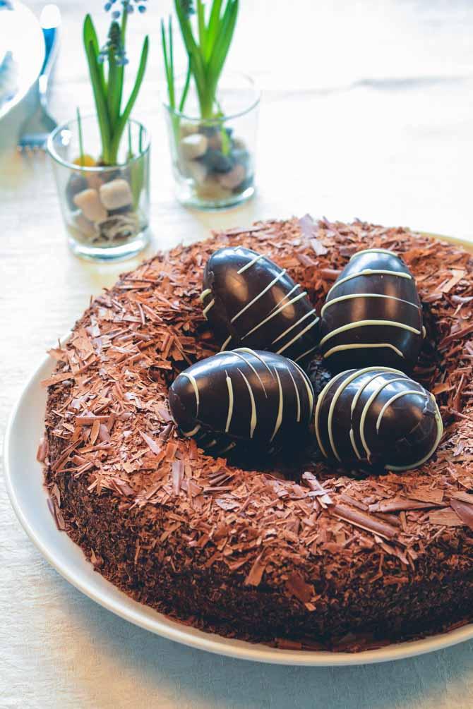 Påske fuglerede kage opskrift
