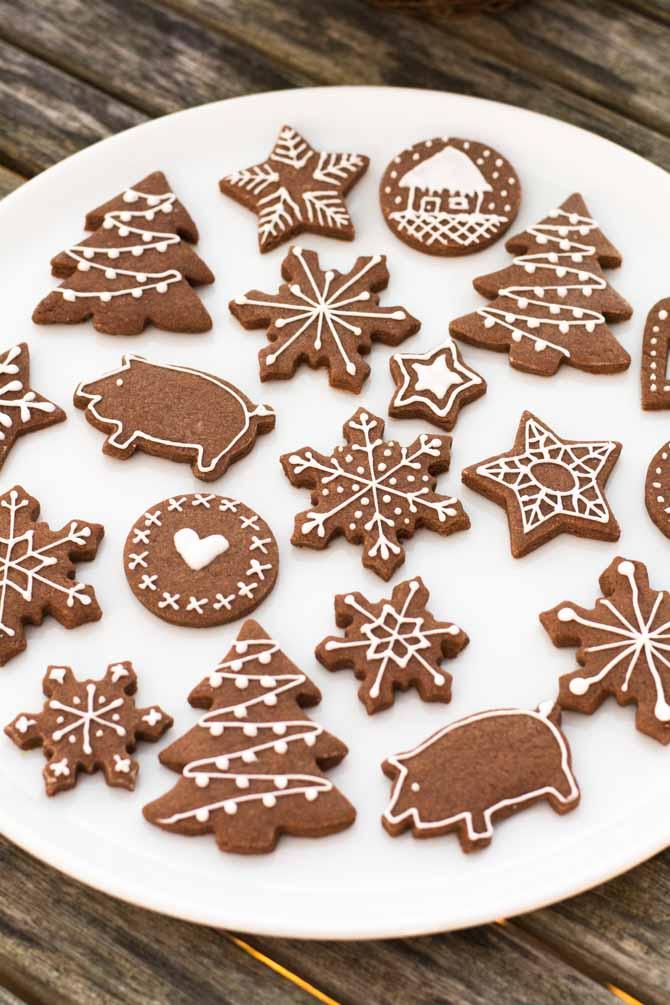 Udstikke småkager til jul