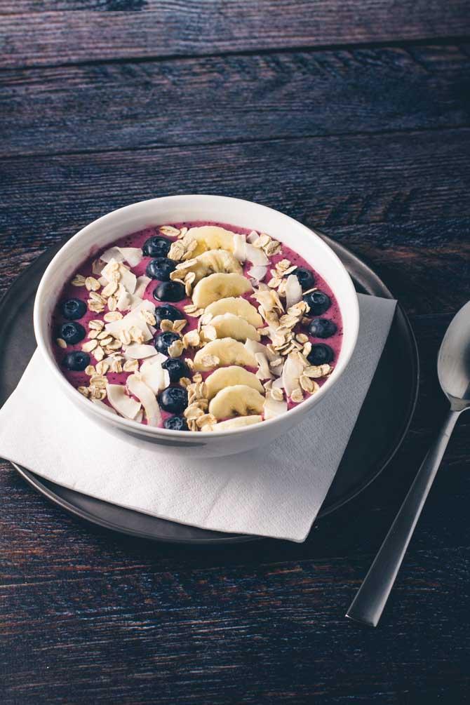 Smoothie bowl til morgenmad