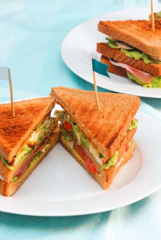 Clubsandwich opskrift fra Bageglad