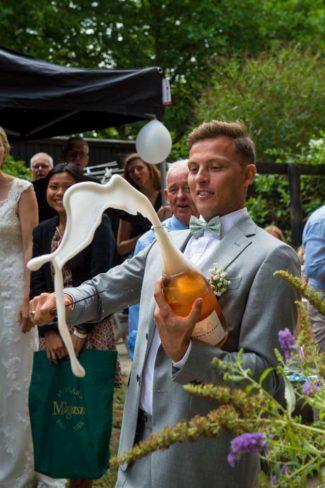 Bryllup champagne