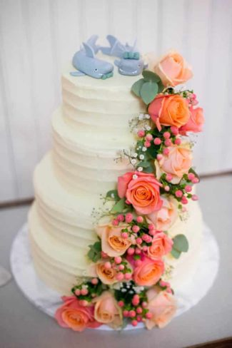 Bryllupskage roser