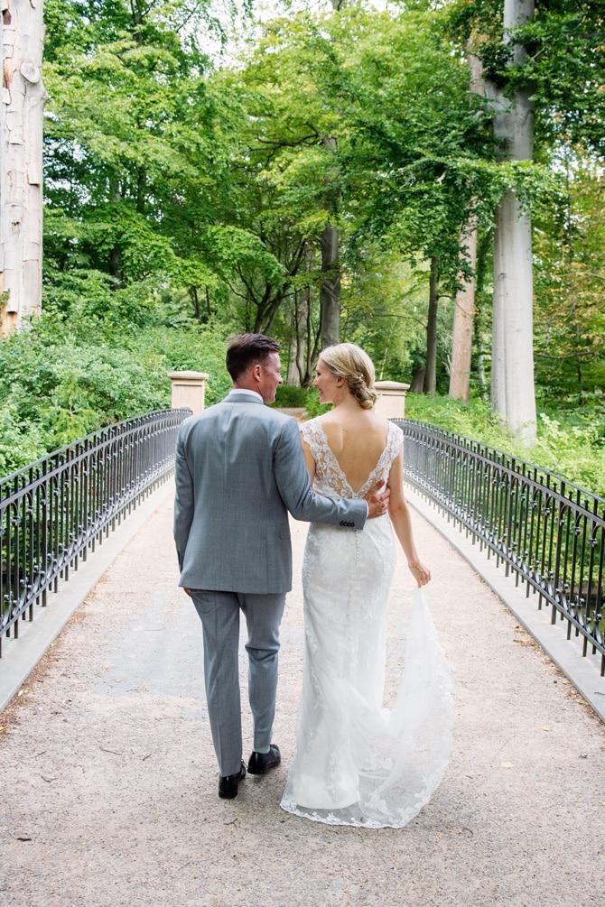 Brudepar i Frederiksberg Have