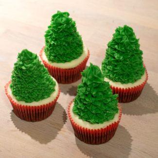 Glasur juletræer