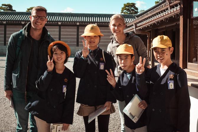 Japanske skolebørn