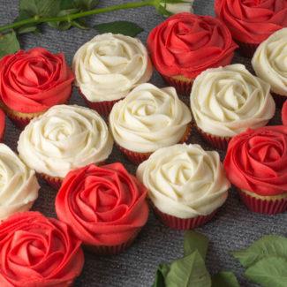 Cupcakes med dansk flag