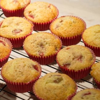 Jordbær muffins
